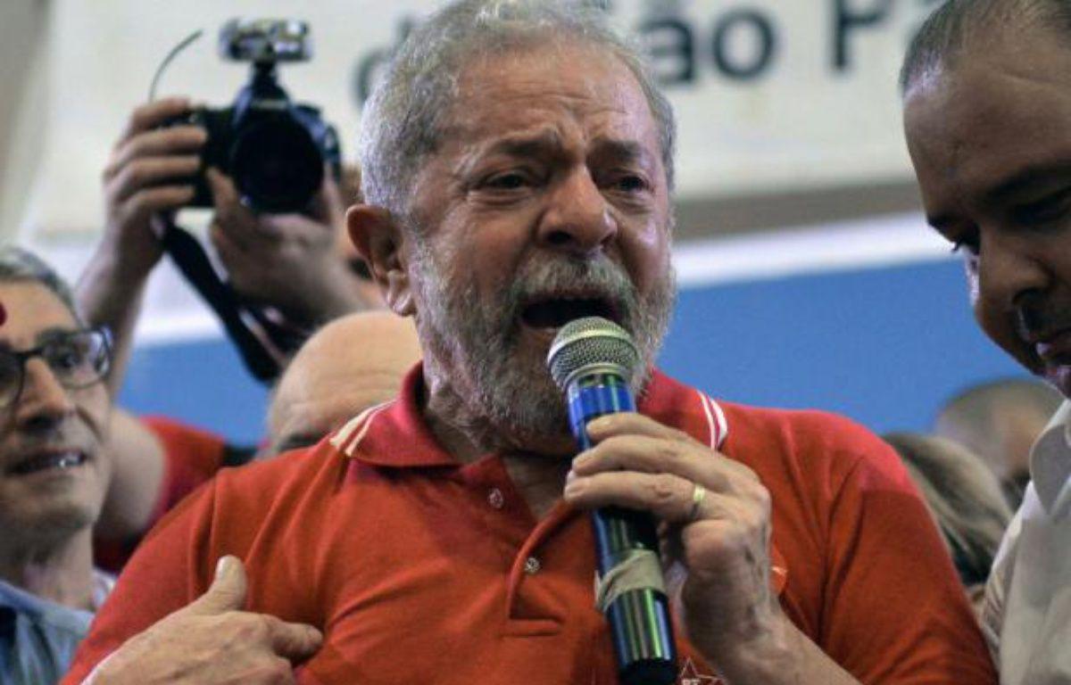L'ancien président brésilien Luiz Inacio Lula da Silva à Sao Paulo le 4 mars 2016 – NELSON ALMEIDA AFP