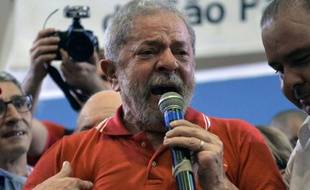L'ancien président brésilien Luiz Inacio Lula da Silva à Sao Paulo le 4 mars 2016