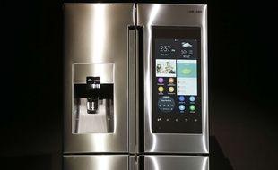 Le frigo connecté «family hub» de Samsung.