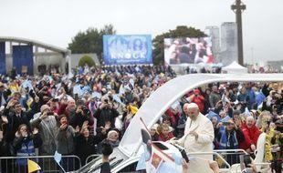 Le Pape François lors de sa visite en Irlande.