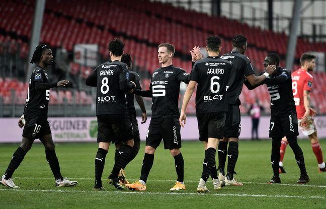 Brest-Rennes: Grenier encore buteur, les Rennais s'offrent le derby et recollent au podium
