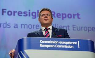 Le vice président de la Commission européenne Maros Sefcovic à Bruxelle, le 9 septembre 2020.