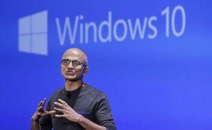 Satya Nadella, patron de Microsoft, le 26 janvier 2015.
