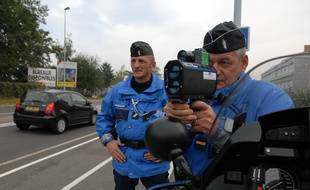 Contrôles de vitesse réalisées par la gendarmerie en Alsace. (Illustration)
