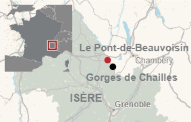 Les restes du corps de Maëlys ont été découverts dans les gorges de Chailles, à une dizaine de kilomètres de Pont-de-Beauvoisin.