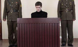 Matthew Miller lors de son procès en Corée du Nord, le 14 septembre 2014.