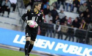 Mickaël Landreau au Stadium Nord face à Nancy, le 21 avril 2012.