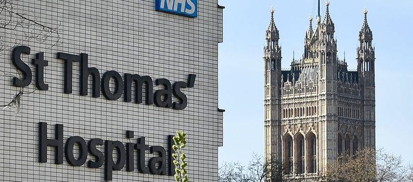 L'hôpital Saint-Thomas, à Londres, où le Premier ministre britannique Boris Johnson est soigné du coronavirus.