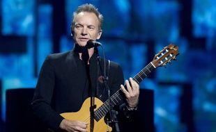 Le chanteur Sting, en concert pour le prix Nobel de la Paix, en Norvège, le  11 décembre 2016.