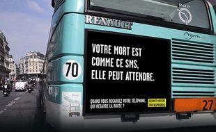 La campagne de la Sécurité routière sur les distracteurs au volant.