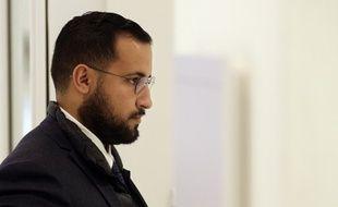 Alexandre Benalla mardi matin au tribunal de Paris.
