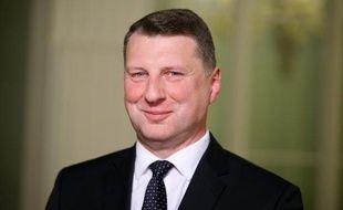 Le nouveau président letton, Raimonds Vejonis, le 3 juin 2015 à Riga