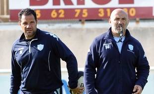 Laurent Labit et Laurent Travers avec le Racing Metro