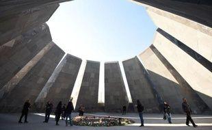 Le mémorial dédié au génocide des Armeniens à Erevan le 16 avril 2015