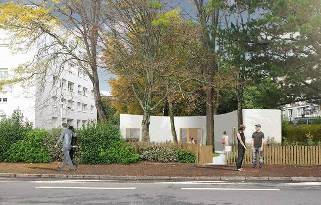 Image de synthèse du logement imprimé en 3D