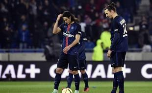 Edinson Cavani et Zlatan Ibrahimovic avaient la tête des mauvais jours, ce dimanche lors du revers (2-1) à Lyon.