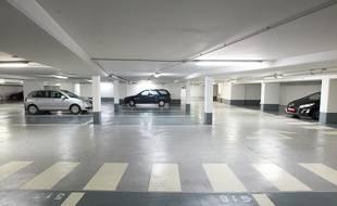 Illustration d'un parking souterrain.