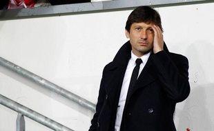 Le directeur sportif du PSG Leonardo lors du match contre Brest le 21 décembre 2012.