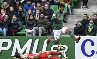 Loïs Diony s'est procuré deux opportunités, ce dimanche face au Nîmes Olympique, mais il n'a toujours pas trouvé la faille sous le maillot vert.