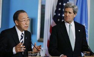 Le chef de la diplomatie américaine John Kerry, son homologue européenne Catherine Ashton et le secrétaire général de l'ONU Ban Ki-moon ont exhorté jeudi l'Iran à faire des avancées sur son programme nucléaire au cours de négociations internationales fin février.