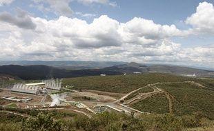 Le site de la centrale géothermique d'Olkaria, au Kenya, le 21 novembre 2014.