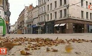 Dans le reportage tourné le 15 août, les plans sur les rues désertes de Niort se succèdent.