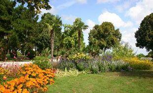 Le parc mauresque où se situe la statue d'Héraclès