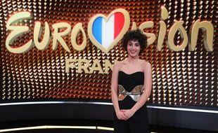 La chanteuse Barbara Pravi, candidate de la France à l'Eurovision 2021.