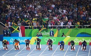 La finale du 100m lors des JO de Rio en 2016.