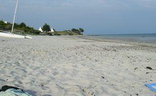 Une plage de sable en Bretagne. Ici à Loctudy, dans le Finistère.
