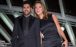 Jamel Debbouze et Mélissa Theuriau, au 13e festival international du film de Marrakech, au Maroc, le 1er décembre 2013.