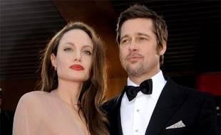 """Angelina Jolie et Brad Pitt arrivent pour la projection de """"Inglourious Basterds"""" lors du Festival de Cannes, le 20 mai 2009."""