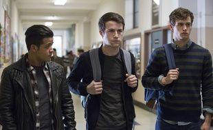 Christian Navarro, Brandon Flynn et Dylan Minnette dans la saison 2 de «13 Reasons Why».