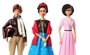 La Barbie de Frida Kahlo (au centre) fait partie d'une série baptisée « Inspiring Women » (femmes inspirantes).