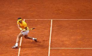 Rafael Nadal a été éliminé par Thiem en quarts de finale du tournoi de Madrid, le 11 mai 2018.