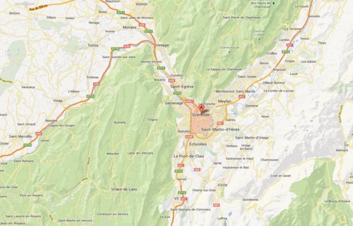 GoogleMap de Grenoble. – Google Map