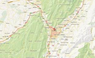 GoogleMap de Grenoble.