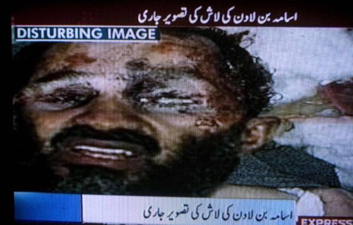 Image présentée par AP comme montrant le corps de Ben Laden, le 2 mai 2011   – AP Photo/Express TV