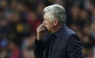 Carlo Ancelotti a de quoi se mordre les doigts après la défaite du Bayern Munich face au PSG (3-0) en Ligue des champions, le 27 septembre 2017.