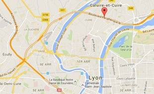 Le boulevard périphérique Nord à Lyon.