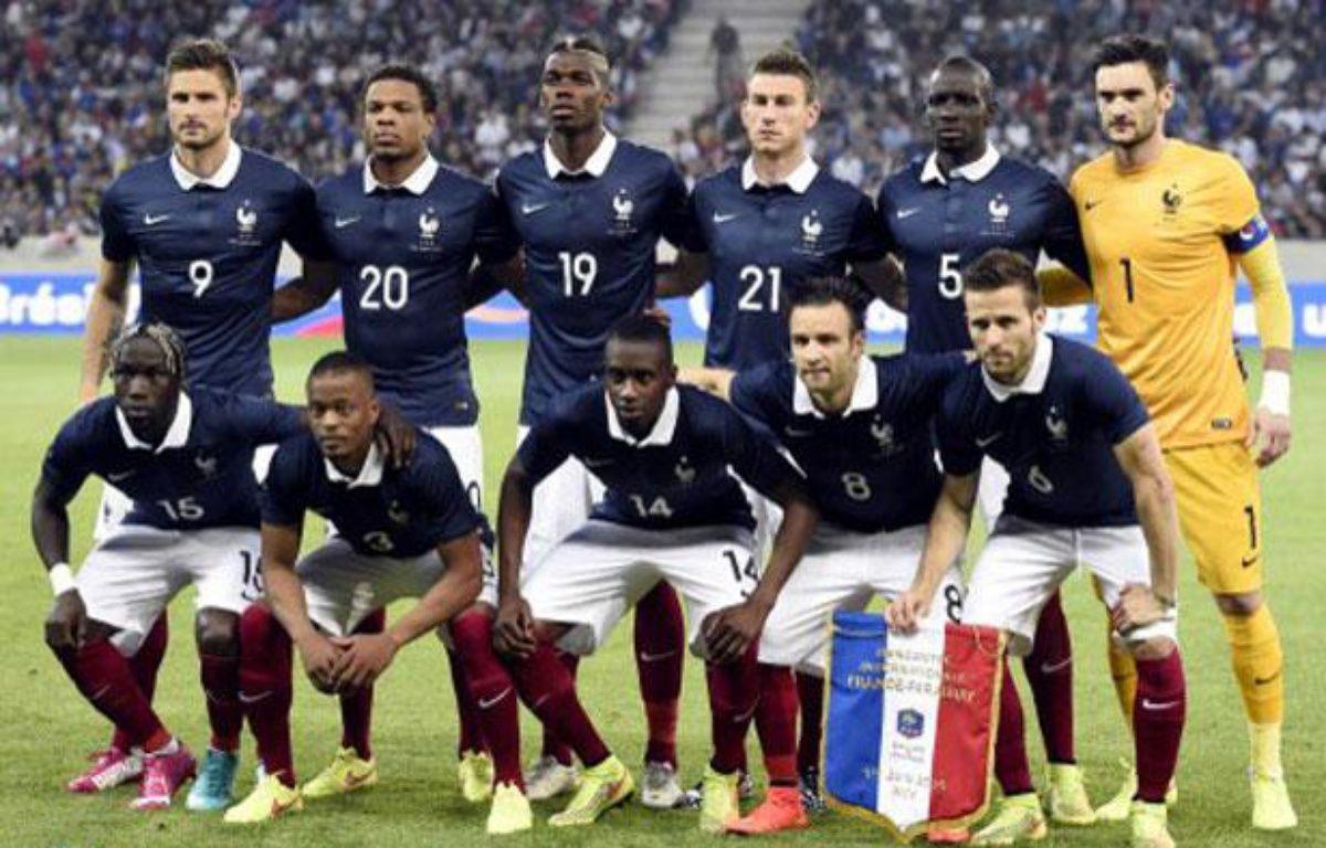 Les joueurs de l'équipe de France, le 1eer juin 2014à Nice avant un match contre le Paraguay. – FRANCK FIFE / AFP