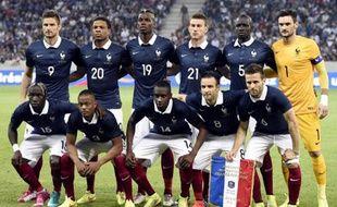 Les joueurs de l'équipe de France, le 1eer juin 2014à Nice avant un match contre le Paraguay.