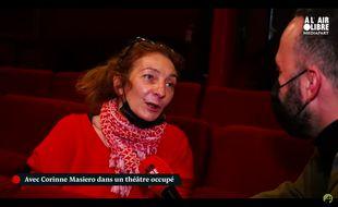 Corinne Masiero interrogée par Mediapart.