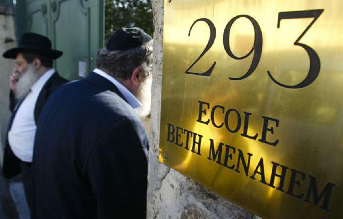 Les parents d'élèves de l'école juive Beth Menahem de Villeurbanne (Rhône) sont très choqués après l'agression qui a eu lieu près de l'établissement samedi. – C. VILLEMAIN / 20 MINUTES