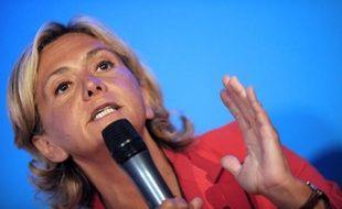 La députée UMP Valérie Pécresse le 27 août 2014 à Rouez-en-Champagne