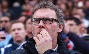 Laurent Blanc, l'entraîneur du PSG, le 15 mars 2015 à Bordeaux.