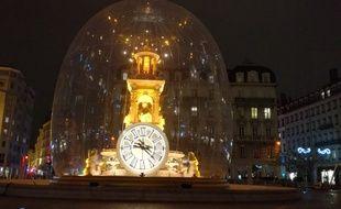 Le 6 décembre 2017. La place des Jacobins lors de la Fête des lumières à Lyon.