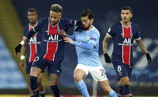 Kimpembe, Neymar et Paredes, impuissants face au Manchester City de Bernardo Silva.
