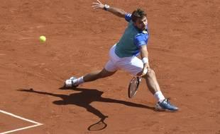Stan Wawrinka, face à Andy Murray, en demi-finale de Roland-Garros, vendredi 9 juin 2017.