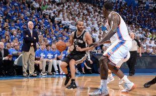 Le meneur de jeu des San Antonio Spurs Tony Parker le 27 mai 2014 à Oklahoma.
